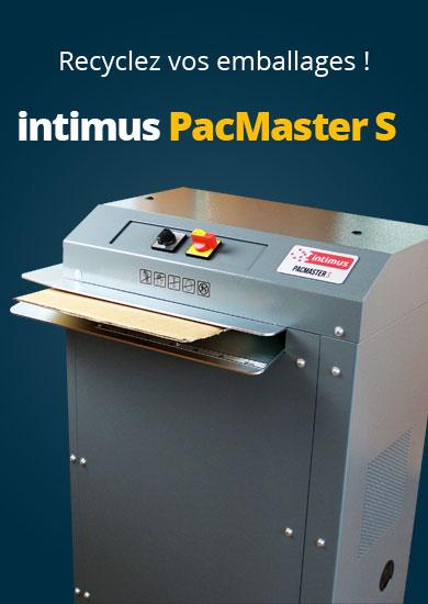 intimus PacMaster S : Détruit les vieux cartons et en fait un materiel d' emballage robuste