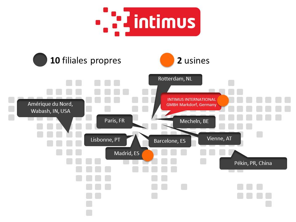 Le groupe intimus dans le monde