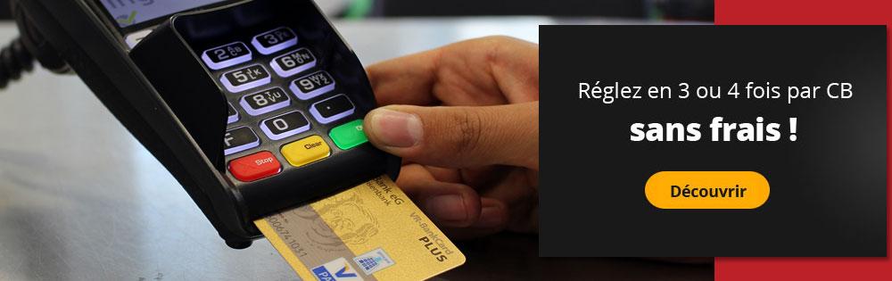 paiement sécurisé et paiement en 3x ou 4x sans frais