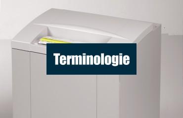 Terminologie du destructeur de documents